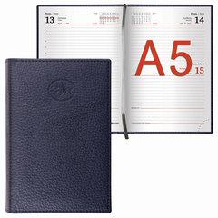 """Ежедневник датированный 2018, А5, BRAUBERG """"Favorite"""", """"фактурная кожа"""", черный, 138х213 мм"""
