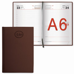 """Ежедневник датированный 2018, А6, BRAUBERG """"Favorite"""", """"фактурная кожа"""", коричневый, 100х150 м"""