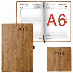 """Ежедневник датированный 2018, А6, BRAUBERG """"Wood"""", """"благородное дерево"""", коричневый, 100х150 мм"""