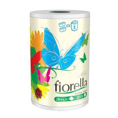 """Полотенце бумажное бытовое, 3-х слойное, 34 м, ASTER """"Fiorella"""", белое, Италия, артикул 112155"""