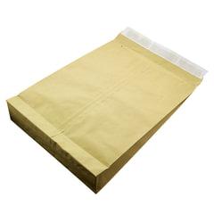 Конверт-пакет С3 объемный, комплект 100 шт., 320х430х80 мм, отрывная полоса, двойнная крафт-бумага, коричневый, до 5 кг