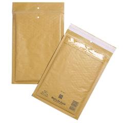 Конверт-пакет с прослойкой из пузырчатой пленки, комплект 100 шт., 200х270 мм, отрывная полоса, крафт, коричневый