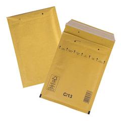 Конверт-пакет с прослойкой из пузырчатой пленки, комплект 100 шт., 170х220 мм, отрывная полоса, крафт, коричневый