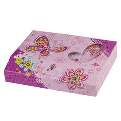 "Блокнот 7БЦ, А5, 56 л., фоторамка, подарочная упаковка на магните, BRAUBERG ""Бабочки"", 133х178 мм"