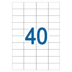 Этикетка самоклеящаяся УДАЛЯЕМАЯ, 52,5х29,7 мм, 40 этикеток, белые, 65 г/м2, 50 л., STAFF