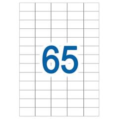 Этикетка самоклеящаяся УДАЛЯЕМАЯ, 38х21,2 мм, 65 этикеток, белые, 65 г/м2, 50 л., STAFF
