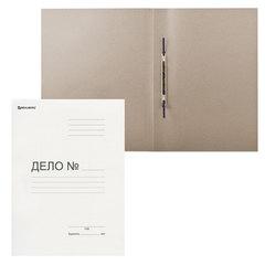 Скоросшиватель картонный мелованный BRAUBERG, гарантированная плотность 440 г/м2, до 200 листов