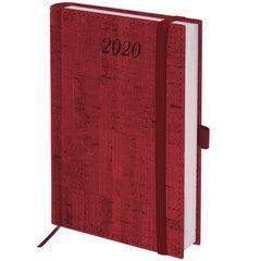 """Ежедневник датированный 2020 А6, BRAUBERG """"Wood"""", благородное дерево, бордовый, 100х150 мм"""