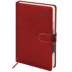 """Ежедневник датированный 2020, А5, GALANT """"Ritter"""", магнитная застежка, вырубной блок, красный, 148х218 мм"""