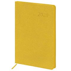 """Ежедневник датированный 2020 А5, BRAUBERG """"Stylish"""", интегральная обложка, цветной срез, желтый, 138х213 мм"""