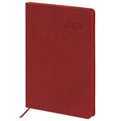 """Ежедневник датированный 2020 А5, BRAUBERG """"Stylish"""", интегральная обложка, цветной срез, красный, 138х213 мм"""