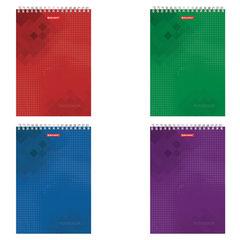 """Блокнот А4, 80 листов, гребень, жесткая подложка, клетка, BRAUBERG """"Бизнес"""", 200х285 мм"""