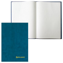 Книга учета 208 л., А4, 200х290 мм, BRAUBERG, клетка, обложка твердая бумвинил, блок офсетный