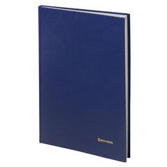 Книга учета 144 л., А4 (200х290 мм), клетка, твердая, бумвинил, блок офсет, BRAUBERG, 130226
