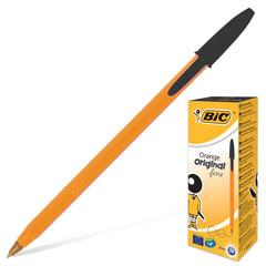 """Ручка шариковая BIC """"Orange"""", ЧЕРНАЯ, корпус оранжевый, узел 0,8 мм, линия письма 0,3 мм"""