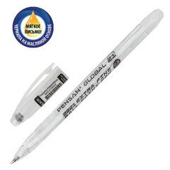 """Ручка шариковая масляная PENSAN """"Global-21"""", ЧЕРНАЯ, корпус прозрачный, узел 0,5 мм, линия письма 0,3 мм, 2221"""