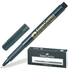 """Ручка капиллярная FABER-CASTELL """"Finepen 1511"""", корпус зеленый, толщина письма 0,4 мм, черная"""