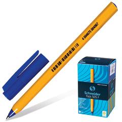 "Ручка шариковая SCHNEIDER (Германия) ""Tops 505 F"", корпус желтый, узел 0,5 мм, линия 0,3 мм, синяя"