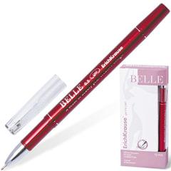 """Ручка гелевая ERICH KRAUSE """"Belle Gel"""", корпус красный, узел 0,5 мм, линия 0,4 мм, красная"""