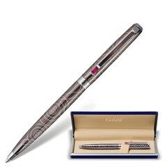 """Ручка подарочная шариковая GALANT """"Kawasaki"""", корпус серебристый с гравировкой, хромированные детали, пишущий узел 0,7 мм, синяя, 141361"""