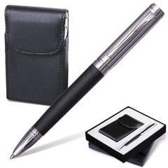 """Набор GALANT """"Prestige Collection"""": ручка, визитница, черный, подарочная коробка"""