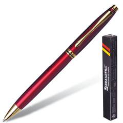 """Ручка бизнес-класса шариковая BRAUBERG """"De Luxe Red"""", корпус бордовый, узел 1 мм, линия письма 0,7 мм, синяя, 141413"""