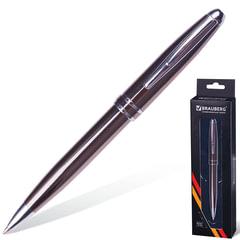 """Ручка бизнес-класса шариковая BRAUBERG """"Oceanic Grey"""", корпус серый, узел 1 мм, линия письма 0,7 мм, синяя, 141420"""