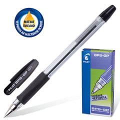"""Ручка шариковая масляная PILOT """"BPS-GP"""", корпус прозрачный, узел 0,5 мм, линия 0,25 мм, черная"""