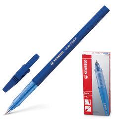 """Ручка шариковая STABILO """"Liner"""", корпус синий, узел 0,7 мм, линия 0,3 мм, синяя"""