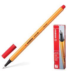 """Ручка капиллярная STABILO """"Point"""", корпус оранжевый, толщина письма 0,4 мм, красная"""