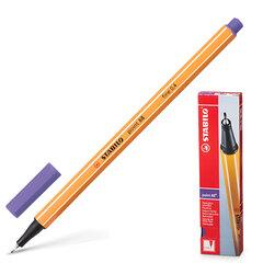 """Ручка капиллярная STABILO """"Point"""", корпус оранжевый, толщина письма 0,4 мм, фиолетовая"""