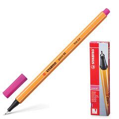 """Ручка капиллярная STABILO """"Point"""", корпус оранжевый, толщина письма 0,4 мм, розовая"""