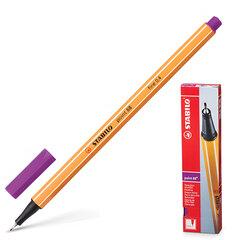 """Ручка капиллярная STABILO """"Point"""", корпус оранжевый, толщина письма 0,4 мм, сиреневая"""