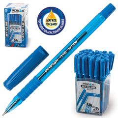 """Ручка шариковая масляная с грипом PENSAN """"My-Club"""", СИНЯЯ, игольчатый узел 0,7 мм, линия письма 0,35 мм"""