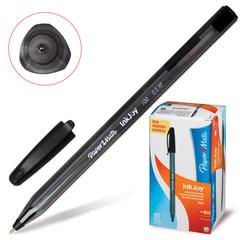 """Ручка шариковая PAPER MATE """"Inkjoy 100"""", корпус тонированный черный, узел 0,7 мм, линия 0,5 мм, черная"""