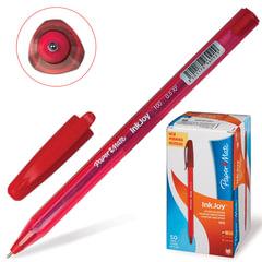 """Ручка шариковая PAPER MATE """"Inkjoy 100"""", корпус тонированный красный, узел 0,7 мм, линия 0,5 мм, красная"""