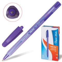 """Ручка шариковая PAPER MATE """"Inkjoy 100"""", корпус тонированный фиолетовый, узел 1,2 мм, линия 1 мм, фиолетовая"""