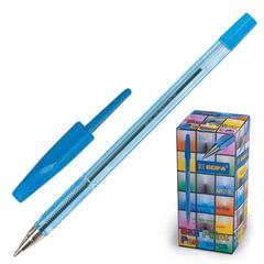 Ручка шариковая BEIFA (Бэйфа) 927, корпус тонированный синий, узел 0,7 мм, линия письма 0,5 мм