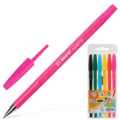 """Ручки шариковые BEIFA (Бэйфа), набор 6 шт., """"WMZ"""", корпус ассорти, 1 мм, европодвес, цвет ассорти"""