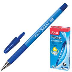 """Ручка шариковая с грипом BEIFA (Бэйфа) """"A Plus"""", СИНЯЯ, корпус синий, узел 1 мм, линия письма 0,7 мм"""