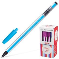 Ручка шариковая BEIFA (Бэйфа), корпус ассорти, пластиковый наконечник, 0,5 мм, синяя