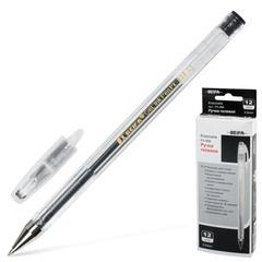 Ручка гелевая BEIFA (Бэйфа), корпус прозрачный, металлический наконечник, толщина письма 0,5 мм, черная