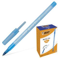 """Ручка шариковая BIC """"Round Stic"""", СИНЯЯ, корпус голубой, узел 1 мм, линия письма 0,32 мм"""