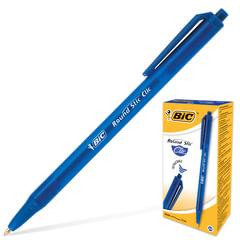 """Ручка шариковая автоматическая BIC """"Round Stic Clic"""", корпус тонированный синий, узел 1 мм, линия 0,32 мм, синяя"""