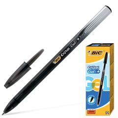 """Ручка гелевая BIC """"Cristal Gel+"""" (Франция), корпус черный, полупрозрачный, толщина письма 0,5 мм, черная"""