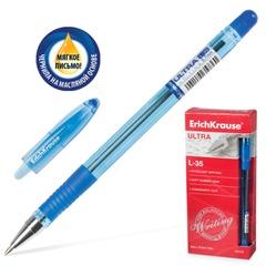 """Ручка шариковая масляная ERICH KRAUSE """"Ultra L-35"""", корпус тонированный, узел 0,7 мм, линия 0,35 мм, синяя"""