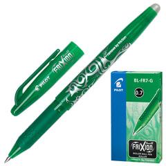"""Ручка """"Пиши-стирай"""" гелевая PILOT """"Frixion"""", корпус зеленый, узел 0,7 мм, линия 0,35 мм, зеленая"""