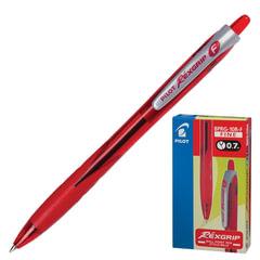 """Ручка шариковая масляная PILOT автоматическая, BPRG-10R-F """"Rex Grip"""", корпус красный, резиновый упор, 0,32 мм, красная"""