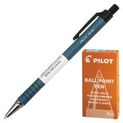 Ручка шариковая масляная автоматическая PILOT, СИНЯЯ, корпус синий, узел 0,7мм, линия письма 0,32мм
