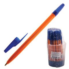 """Ручка шариковая СТАММ """"511"""", корпус оранжевый, узел 1,2 мм, линия письма 1 мм, синяя"""